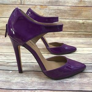 Michael Antonio Purple Patent Leather Heels Shoes